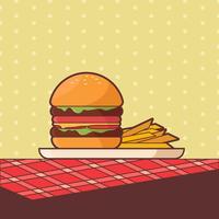 Sommer-Nahrungsmittelvektor vektor