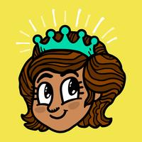 prinsessans tecknad film vektor