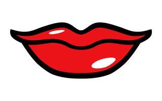 Sexy Lippenvektorikone vektor
