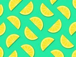 Citronskivor Vektor Pop Bakgrund
