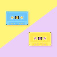 Audiokassetten-Knall-Hintergrund vektor