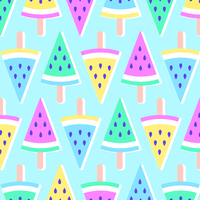 Pastell Summer Melon Popsicles Bakgrund vektor