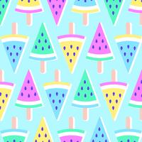 Pastellsommer-Melonen-Eis am Stiel-Hintergrund vektor
