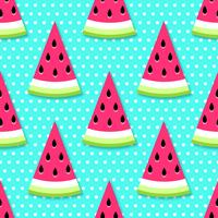 Nahtlose Wassermelone schneidet Hintergrund vektor