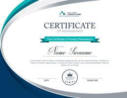 Vektor Zertifikatvorlage