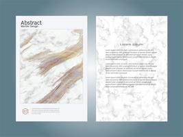 Omslag bok design layout mall vit marmor konsistens.