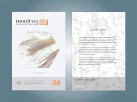 Weiße Marmorbeschaffenheit der Abdeckungsbuch-Designplan-Schablone. vektor