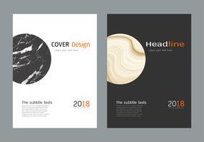 Omslag bok design layout mall vit marmor konsistens. vektor