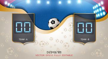 Digital Timing Scoreboard, Fußballspiel Team A gegen Team B.
