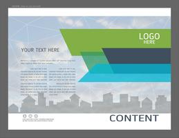 Presentationsdesignmall, stadsbyggnader och fastighets koncept. vektor