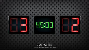 Digital timing resultattavla, Fotbollsmatch lag A vs lag B, Strategi sändning grafisk mall. vektor