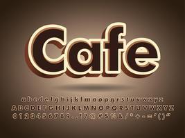 Kaffee-und Schokoladen-Typografie-Text-Logo