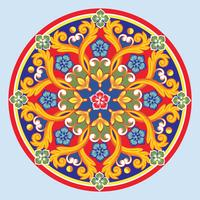 Bunte ethnische runde dekorative Mandala. Vektor-illustration