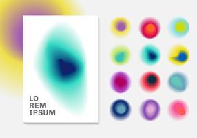 Sats med vibrant gradient blurs bakgrund. Sammanfattning färgglada gradienter samtida mönster