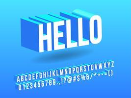 Isometrisches einfaches Alphabet 3d