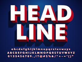 Super Strong Bold 3D Headline Font vektor