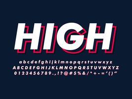 Einfache minimalistische Schriftart mit modernem Stil vektor