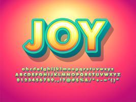 Vänlig mjuk 3d typografisk texteffekt vektor
