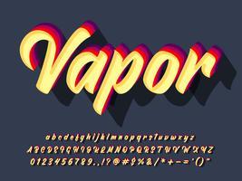 Tappning Retro Teckensnitt Med Pensel Skript Typeface vektor
