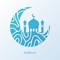Eid Mubarak hälsningskort illustration