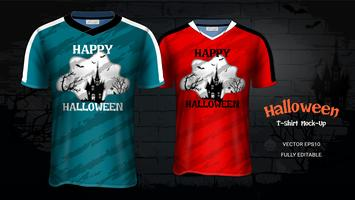 Halloween-Kostüm-T-Shirts Modell-Schablone.