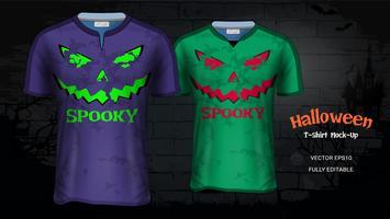 Halloween kostym T-shirts Mockup Mall. vektor