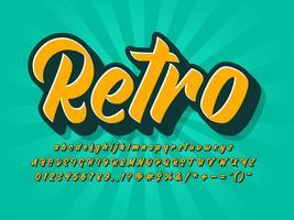 vintage retro teckensnitt vektor