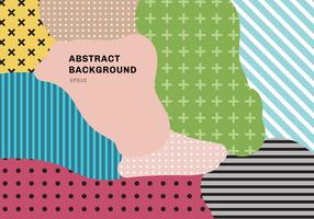 Abstrakt färgstänk mönster bakgrundsöverdrag geometrisk design av trendiga Memphis 80s-90s stil vektor