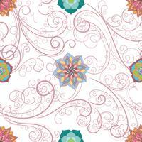 Abstract floral nahtlose Hintergrund, vektor