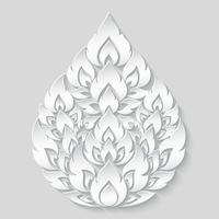 Zeichnen Sie thailändisches, traditionelles thailändisches Artmuster auf Graustufensteigung, Vektorillustration.