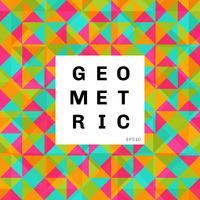 Abstrakter geometrischer bunter Mosaikmusterhintergrund. Dreiecke und Quadrat helle Farbe