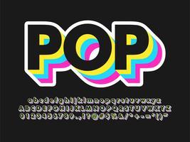 Cooler dunkler Pop-Art-Text-Effekt vektor