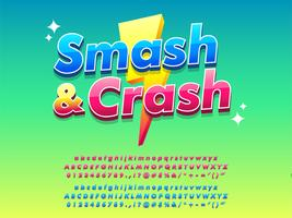 Mobile Game Logotype Bright and Shiny Design vektor