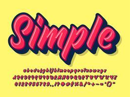 Einfache fette Pinselschrift vektor