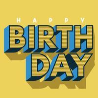 Alles Gute zum Geburtstag-Vektor-Design