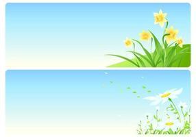 Blumenfrühlings-Vektor-Tapeten-Satz