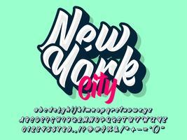 New York City anpassad bokstavstypografi