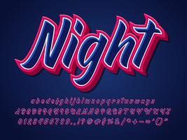 Stark och skarp teckensnitt Dark Alphabet