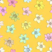 Färgglada blommor sömlös bakgrund.