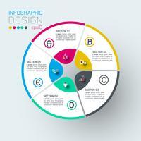 Infografiken auf Vektorgrafik.