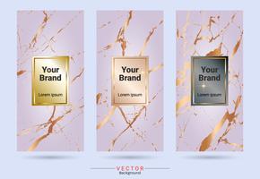 Förpackning produktdesign etikett och klistermärken mallar. vektor