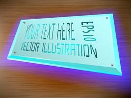 Acryl-Label LED-Lichtdekoration auf dem Etikett.