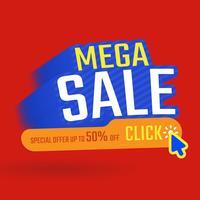 Verkaufsfahnen-Schablonendesign, Sonderangebot Maga-Verkaufs, Sonderangebot Bis zu 50% Rabatt auf Vektorillustrationen