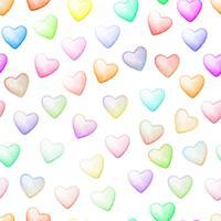 Färgglatt hjärta sömlösa bakgrund. vektor