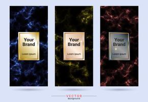 Etiketten- und Aufklebervorlagen für das Verpackungsdesign. vektor