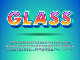Spaß und freundliche Text-Art mit Steigungs-Farbe vektor