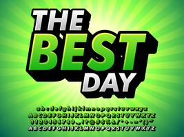 Extrude Typeface Med Glödande Grön Bakgrund