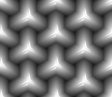 Nahtloses Schwarzweiss-Muster. vektor