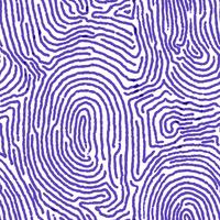 Blå fingeravtryck sömlös bakgrund. vektor