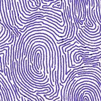 Nahtloser Hintergrund des blauen Fingerabdruckes.